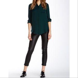 J Brand Anja Leather Cuffed Crop Pant Size 28